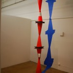 Orange and Blue (A Column for Brancusi). 2009. traffic cones, painter's tape